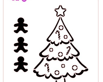Christmas Tree Paint Your Own (PYO) Stencil, Now in 3 stock sizes