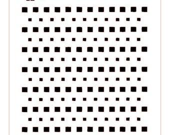 Simple Squares Background Stencil