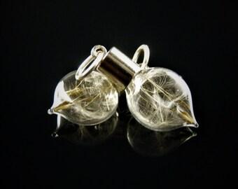 Flat Teardrop Mini Emergency Wish Charm/Pendant