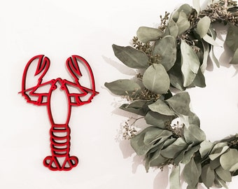 Lobster - 3D Origami - wooden motive