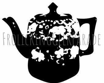 Digital Clipart - Teapot