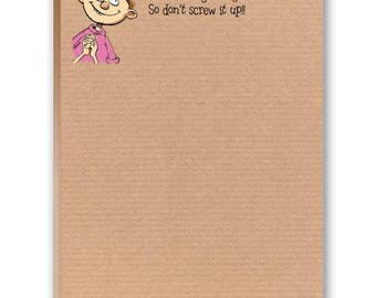 Don't Screw It up - Funny Note Pad - 2 Cute Note Pads - 35015