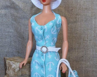Anchors Aweigh In Seafoam Green for Vintage Barbie