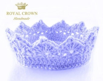 Crocheted Baby Crown,Little Prince or Little Princess Crown,Royal Crown,Newborn Photo Prop,Baby Boy Crown,Newborn Crown,Crochet Baby Crown