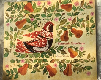 1977 Seasons Greetings Greetings Calendar Walter H. Brooks/Pellew/Moss Art & more FREE Ship