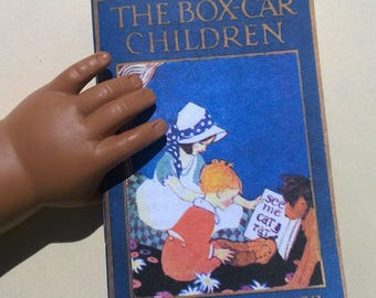 """Printable Miniature Boxcar Children Readable Vintage book easy make-your-own American Girl 18"""" doll Gertrude Chandler Warner School Chapter"""