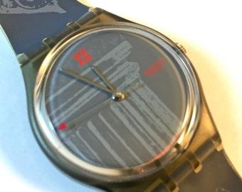 """1991 """"Obelisque"""" Vintage Men's Swatch Watch GM104 - PRINTING ERROR"""