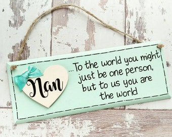 Nanny gifts, Mothers Day Gift, Nan Plaque, gifts for Nan, Nan sign, Mothers Day Sign