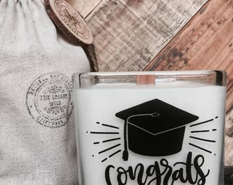 Soy Candle - Graduation Candle - Congrats Candle -Custom Candle-Inspirational Messages-