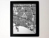 Long Beach custom laser cut map