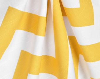 Yellow Curtains   Etsy  Yellow And White Curtains