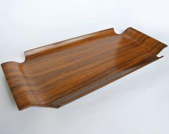 Rare vintage teak tray made by Impala, Sweden. Mid century modern. 1950's