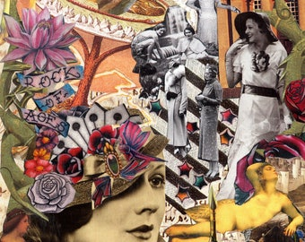 Rock of Ages: limited edition collectors' giclee print of original handmade collage (A4)