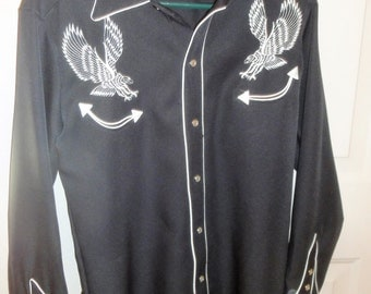Vintage H BarC Shotgun Style Men Shirt