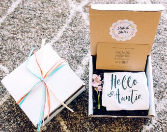 Going To Be An Aunt - Pregnancy Reveal to Aunt - Hello Auntie - Pregnancy Reveal Gift - Pregnancy Announcement Ideas