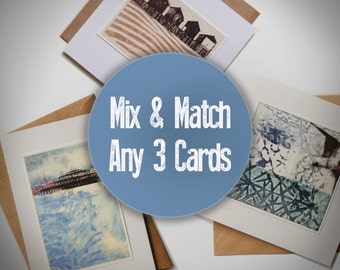 Mix & Match any 3 Handmade Greeting Cards