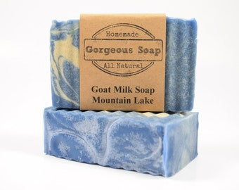 Mountain Lake Goat Milk Soap - All Natural Soap, Handmade Soap, Homemade Soap, Handcrafted Soap