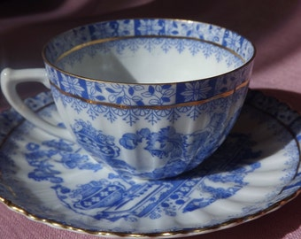 Lovely Askania China Blau Cup and Saucer