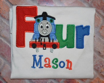 Boys Birthday Shirt/Train birthday shirt/Train party