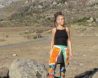 summer patchwork colorful skirt