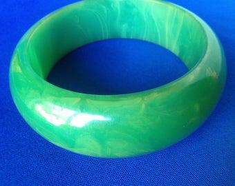 Green Bakelite Bangle