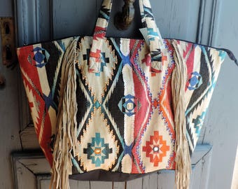 handbag fringes, XXL Tote, bag Beach
