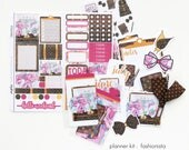 MONTHLY Planner Kit / Planner Stickers / Mini Page Marker : Fashionista (June / July)