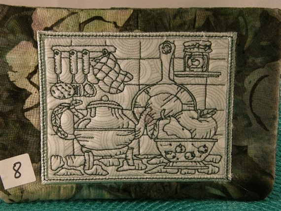 Ith Mug Rug Vintage Kitchen Design No 8 Of Set 10 Instant Download From Ozstitchembroidery