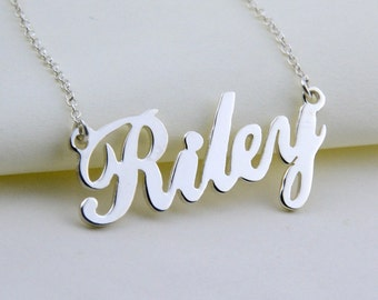 Personalized Name Necklace, Silver Name Necklace,Personalized Name Pendant, Customized Name Necklace, Birthday Gift ,Personalized Jewelry