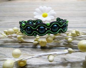 bracelet  / soutache technique / handmade (nr372)