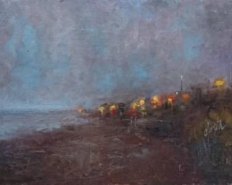 Greystones Beach, Dublin Ireland, Original Oil Painting, Irish Landscape, Irish Scenery, Irish Paintings, Irish Art, Small Oil, 6x8 inch