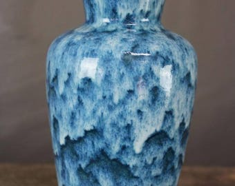 Retro Scheurich Blue German Vase