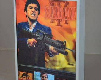 Vintage Lenticular Printed Scarface Cinema Poster Movie Light Box