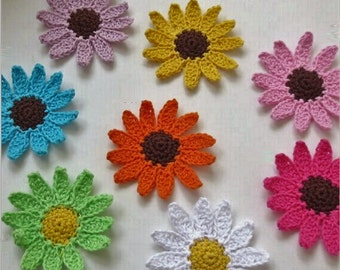 Small Crochet Flower Accessory, 50 x 5cm, Various Colours, Free Shipping