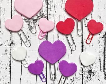 Handmade Foam Hearts Paperclip Bookmark Set