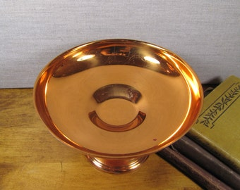 Copper Plated Pedestal Candy Dish