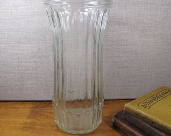 Hoosier Glass Vase - Vertical Ribbed