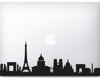 Sticker MacBook Pro/Air Paris Skyline