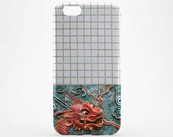 Red Dragon iPhone 8 Case iPhone X Case White Tile Phone Cover iPhone 7 Plus iPhone 6 Case iPhone 7 iPhone SE Case iPhone 5 Case Galaxy S8