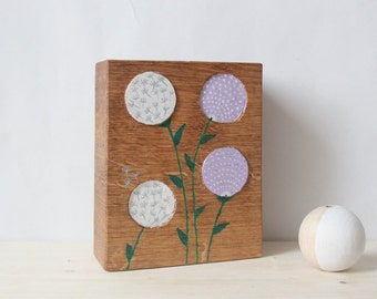 Small wooden relief floral I.