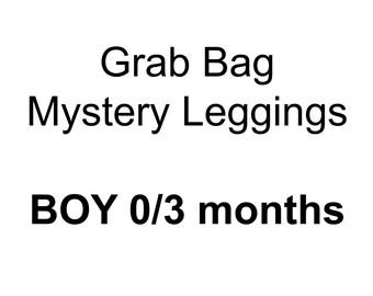 BOY 0/3 month grab bag mystery leggings