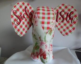 PERSONALISED Cath Kidston Fabric Elephant Soft Toy