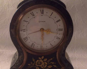 Vintage CYMA Watch Co. Mantle Alarm Clock, Vintage CYMA Clock, CYMA Watch Co., Vintage a Clocks, Antique Clocks, Antique Alarm Clocks,
