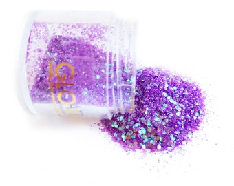 Glow in the Dark Glitter - Purple Haze loose shimmer chunky perfect for festivals