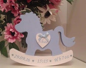 Personalised Rocking horse for Newborn baby Nursey or Christening Freestanding