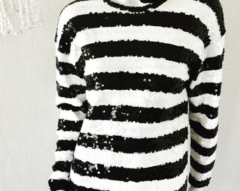 Vintage 90's Adrienne Vittadini Black & White Twiggy/Mod/Mini Dress Sz M