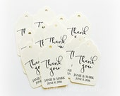 Wedding Thank You Tags, Personalized Thank You Tags, Wedding Tags, Wedding Thank You Tags
