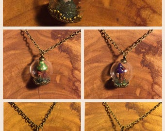 Forest in a bubble necklace