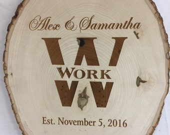 Personalized Wood Slice