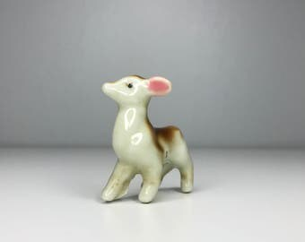cute little vintage ceramic deer figurine